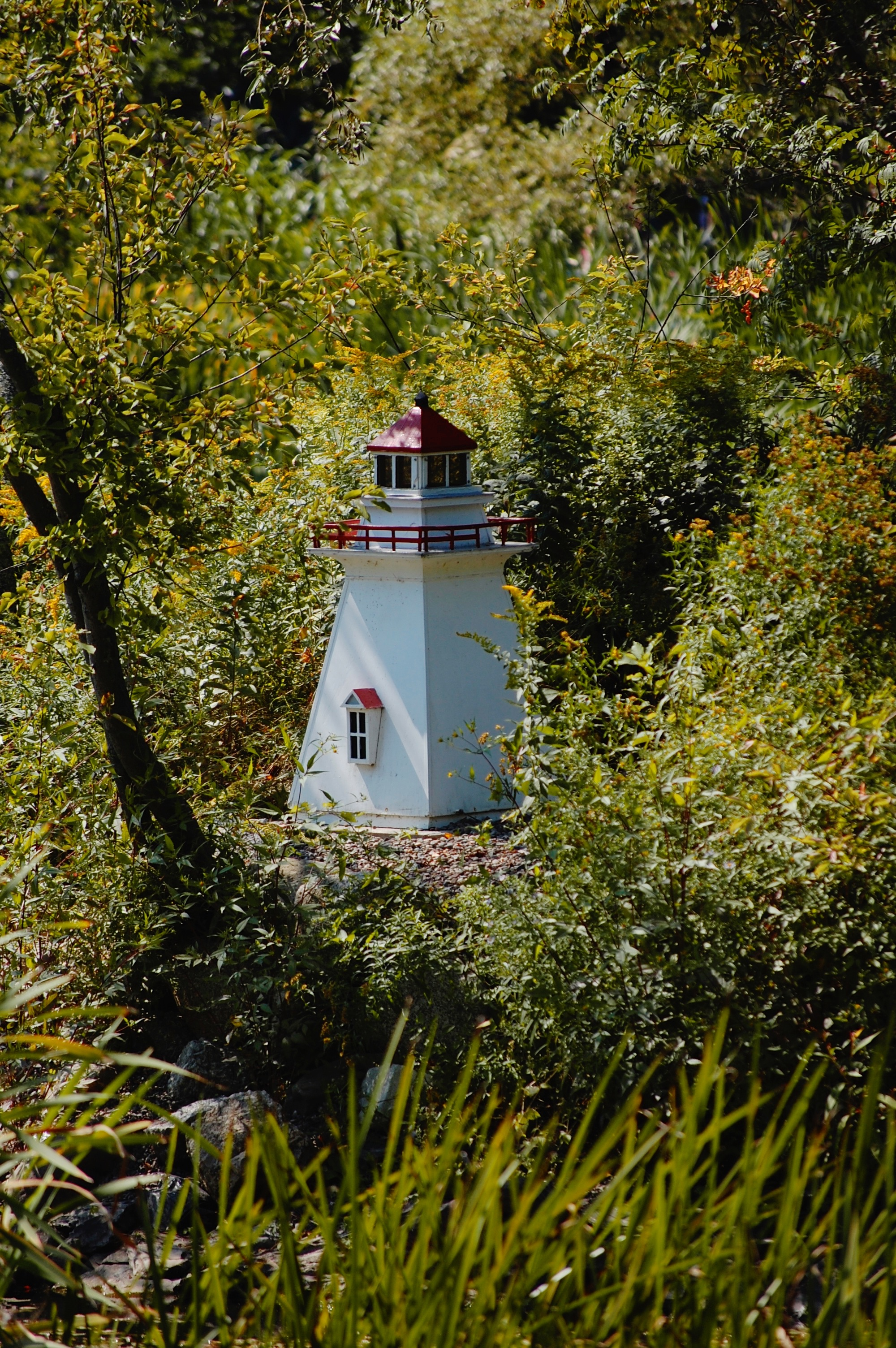 a tiny lighthouse