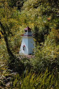a tiny lighthouse