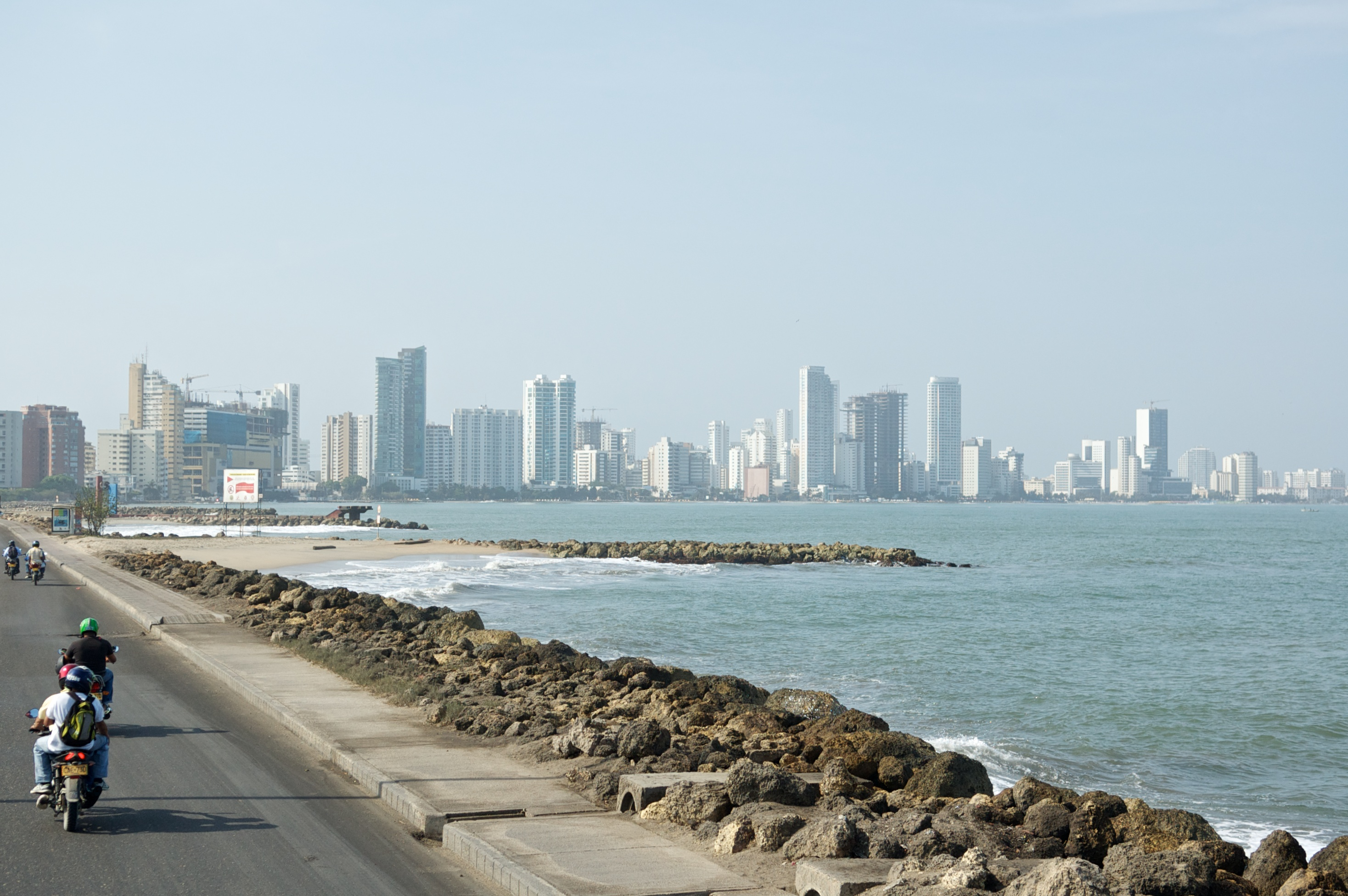 motorcycling through cartagena