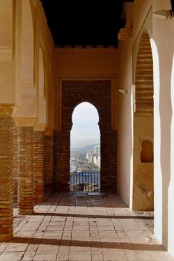 malaga through the arch