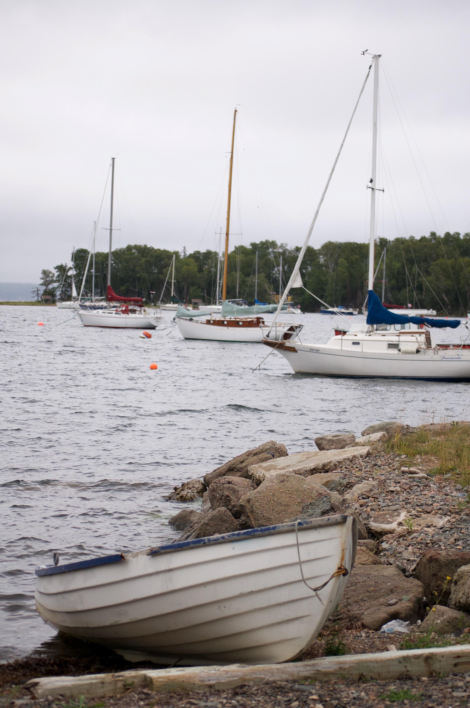 sailboats of baddeck