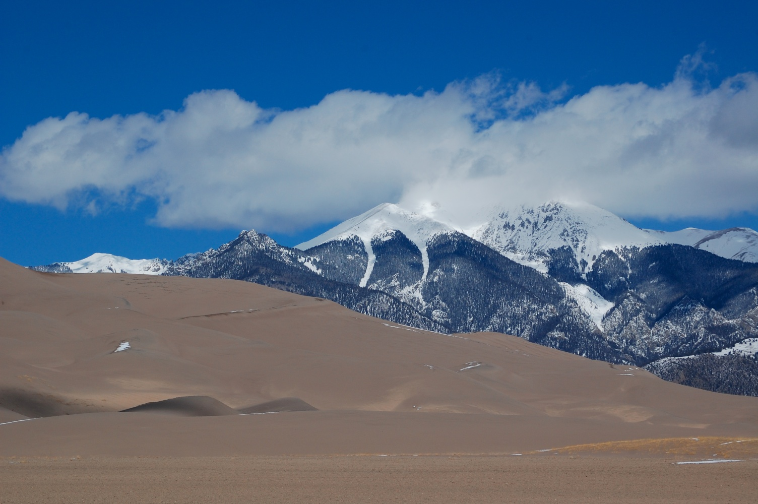 sand dunes and mountain tops