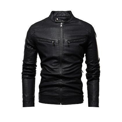 Retro Black Leather Jacket