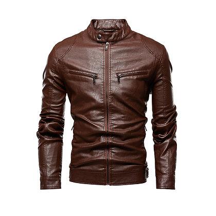 Retro Dark Brown Leather Jacket
