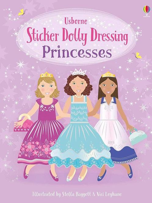 Usborne Sticker Dolly Dressing: Princesses by Fiona Watt & Vici Leyhane