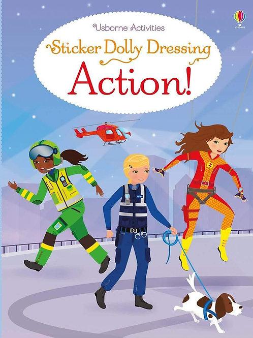 Usborne Sticker Dolly Dressing: Action! by Fiona Watt & Steven Wood