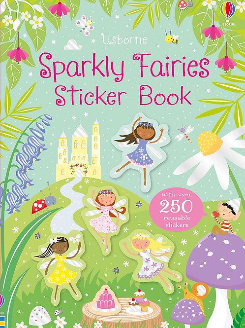 Usborne Sparkly Fairies Sticker Book by Kirsteen Roberts & Stella Baggott