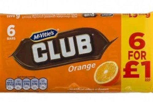 McVitie's Orange Club x 6