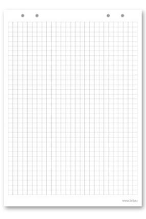 """Блокнот для флипчарта """"2х3"""" (""""Дважды три"""", Польша), 20 листов, клетка, 66х99 см"""