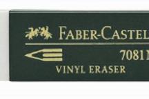 Ластик виниловый Faber-Castell для чернографитных и цветных карандашей