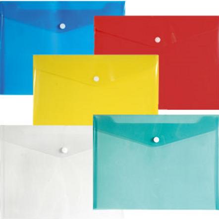 Папка - конверт на кнопке А4.пластиковый