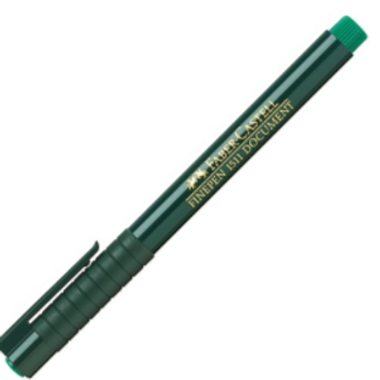 "Ручка капиллярная ""Finepen 1511"" зеленый 0.4мм"