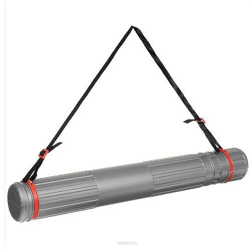 Тубус телескопический на ремне d=90мм L=700-1100мм, серый