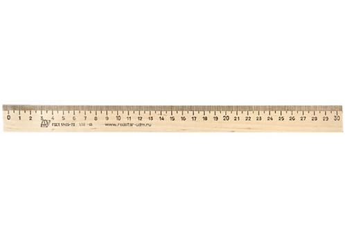 Линейка деревянная 30 см
