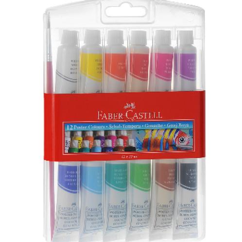 Faber Castell, набор темперных красок, 12 цветов