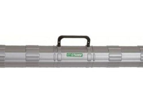 Тубус с пластиковой  ручкой D=90мм, L=700мм, серый