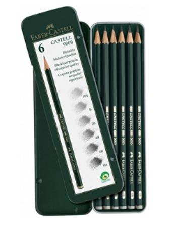 Графитные карандаши Faber-Castell Castell-9000