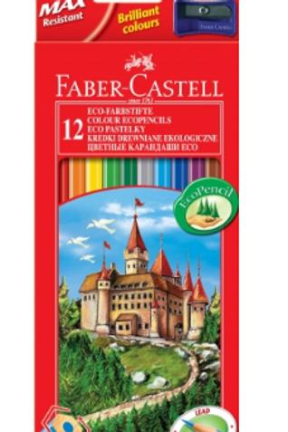 "Набор цветных карандашей ""Замок"" 12 цв., точилка .FABER-CASTELL"