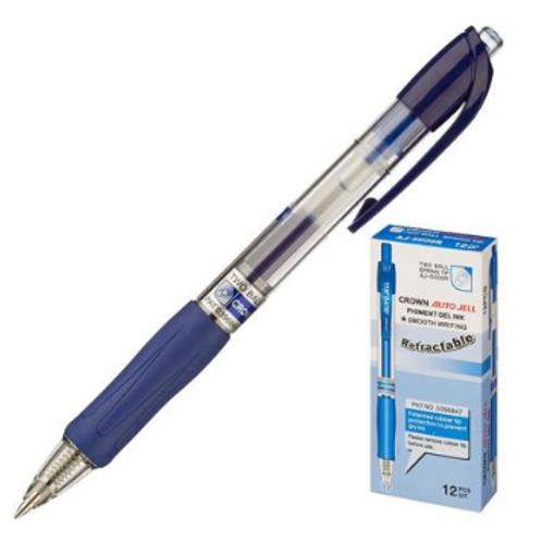 Ручка гелевая автоматическая Crown AJ-5000R синяя (толщина линии 0.7 мм)