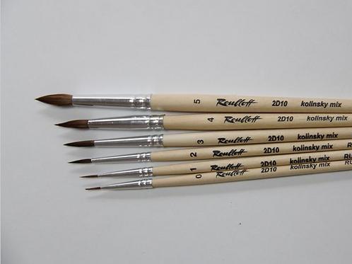 Кисть художественная ROUBLOFF (Рублев) колонок микс, круглая, № 2 короткая ручка