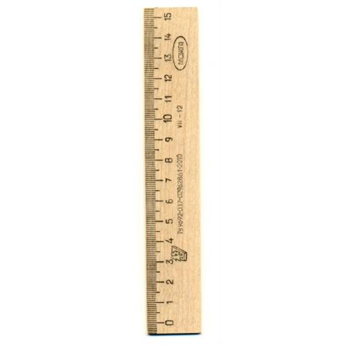 Линейка деревянная Можга 15 см, С03