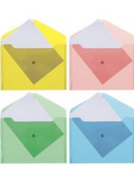 Папка конверт на кнопке А5 0,18мм полупрозрачный