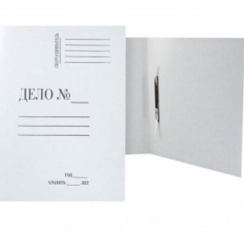 """Папка-скоросшиватель """"Дело"""", А4, не мелованный картон, белый (290-300 г/кв.м)"""