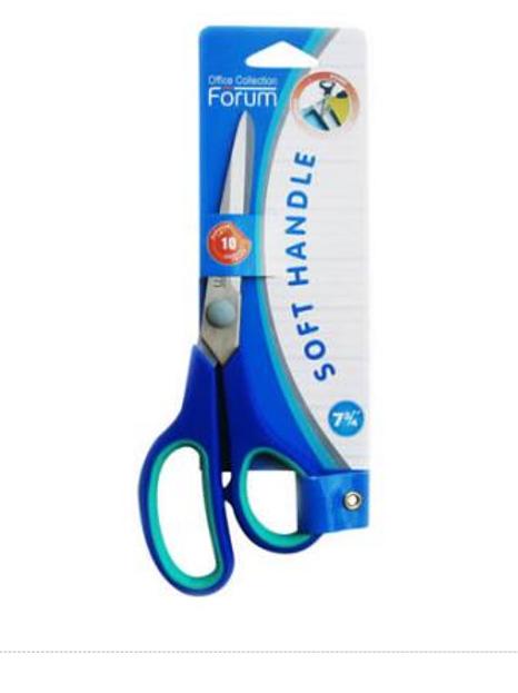 Ножницы универсальные Soft Handle, 215 мм, прорезиненные ручки