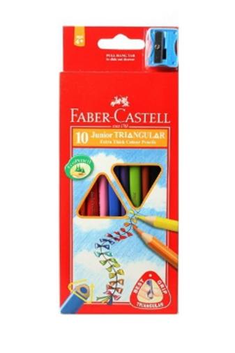 набор цветных арандашей 10  цветов с точилкой Faber-Castell