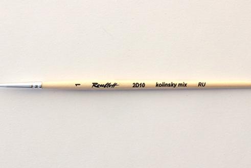 Кисть художественная ROUBLOFF (Рублев) колонок микс, круглая, №1, короткая ручка