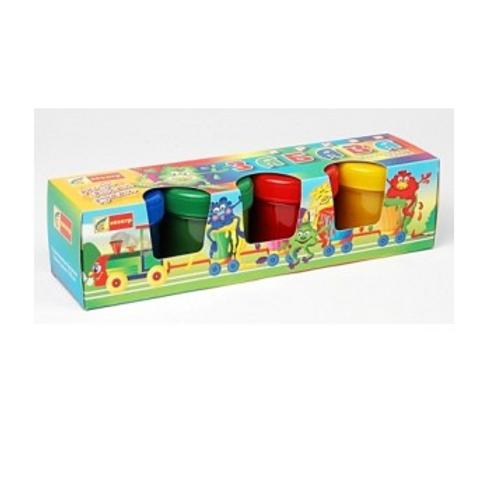 Краски пальчиковые 4цветов. 480мл