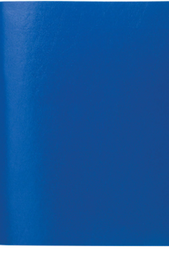 Тетрадь бумвинил А5, 48 л., скоба, офсет , клетка.цвет синий
