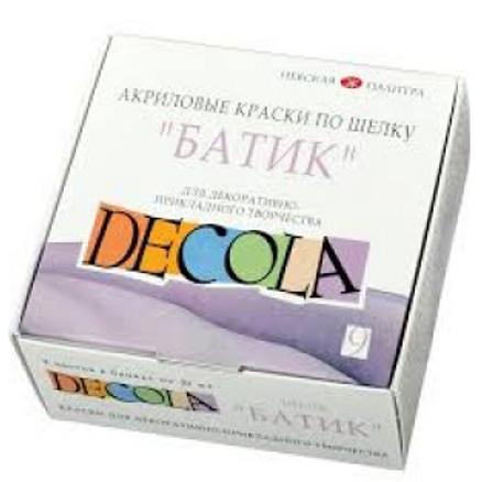 Краски акрил по ткани Батик Декола 9*50 мл