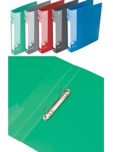 Папка 2 кольца 18 мм 0,7 мм пластик А4