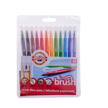 """Фломастеры """"Brush"""", 12 цветов, смываемые"""