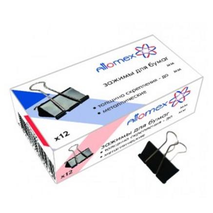 Зажим для бумаги металлический   19 мм