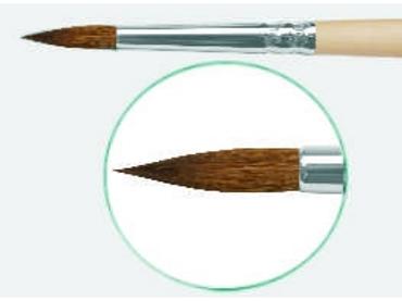 Кисть художественная ROUBLOFF (Рублев) колонок микс, круглая, №5, короткая ручка