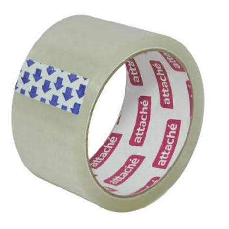 Клейкая лента упаковочная Attache прозрачная 50 мм x 50 м толщина 40 мкм