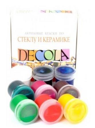 Краски акрил по стеклу и керамике Декола 9*20 мл