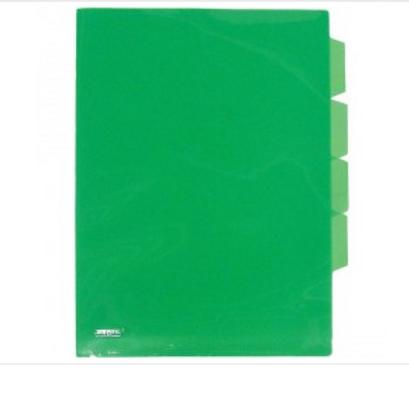 Папка -уголок А4 прозрачная. 3 отд. 0,18мм