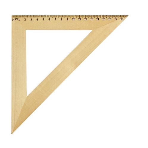 Треугольник деревянный 45°, 16 см