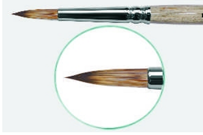 Кисть круглая с укороченной выставкой из имитации мангуста № 0 -10