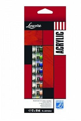 "Набор акриловых красок ""Louvre"" 12 цв х 10 мл, Lefranc & Bourgeois,"