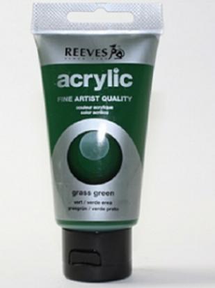 Акрил Reeves, зеленая трава 75мл