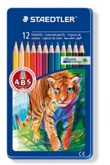 STAEDTLER Карандаши цветные Noris Club, 12 цветов, металлическая коробка