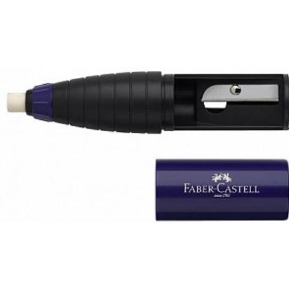 Точилка Faber-Castell со встроенным ластиком, цвет синий/красный