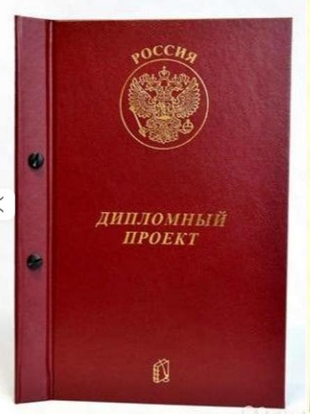 Папка для дипломных работ, А-4 ,бумвинил,2 отверстия