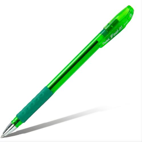 РУЧКА ШАРИКОВАЯ PENTEL IFEEL-IT! 0,7ММ  цвет зеленый