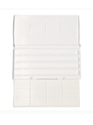 Пластиковая коробка под акварель в кюветах Невская Палитра ЗХК для 24 и 36 цв.