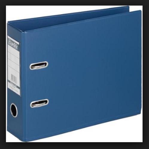 Папка с арочным механизмом Bantex А5 корешок 70 мм синяя горизонтальная